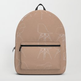 Mid-Century Modern Pink Eames Pattern Backpack