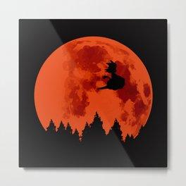 The Moon on Dragon Ball - Black Orange Metal Print