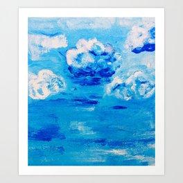 Blue skies  in Florida #1 Art Print