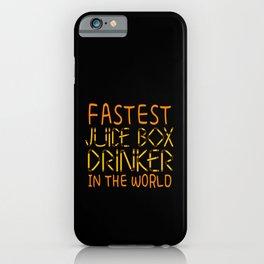 Fastest Juice Box Drinker World Type 1 Diabetes Awareness iPhone Case