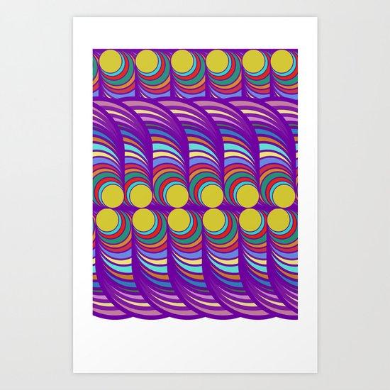 Peacock Pop Art Art Print