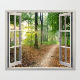 Window Tapestries Style Canvas Print