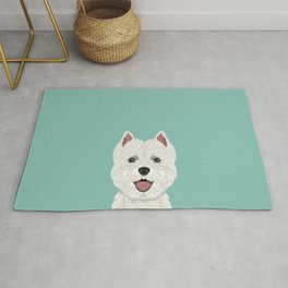 Jamie - Highland Terrier gift ideas for dog person and dog people gifts Rug