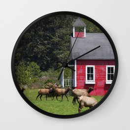 Elk School Recess Wall Clock