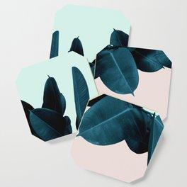 Blue Leaves Coaster