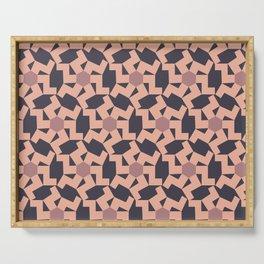 Digital Geometric Motif Rose palette Serving Tray