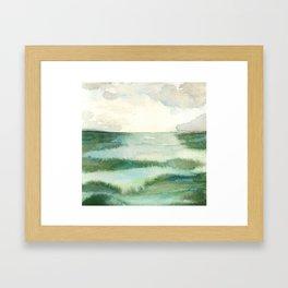 Emerald Sea Watercolor Print Gerahmter Kunstdruck