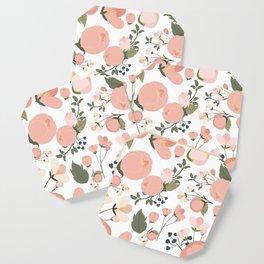 Pink Flower Pattern Coaster