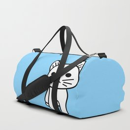 Snow in Blue Duffle Bag