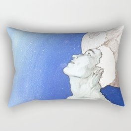 """""""Time and Death and God"""" [Series Part 3] Rectangular Pillow"""