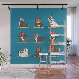 Yorkshire Terrier Yoga Wall Mural