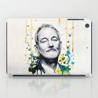 bill murray iPad Cases featuring Bill Murray by Denise Esposito
