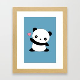 Kawaii Cute Panda Bear Framed Art Print