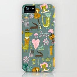 Lizard lounge iPhone Case