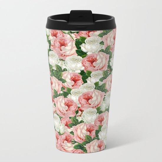 Juliet -  Romantic Roses Metal Travel Mug