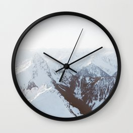 Snowy Mountains in Washington Wall Clock