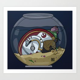 Snail Slimes the Rebel Alliance Art Print