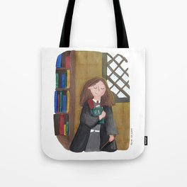 Hermione at the library Tote Bag