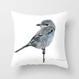 Northern Shrike by Teresa Thompson Throw Pillow