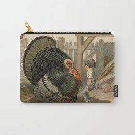 Vintage Thanksgiving Turkey Argument Illustration (1897) Carry-All Pouch