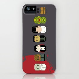 Pixel Art - Classic Horror Movies Monsters iPhone Case