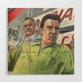 Paulie and Silvio Wood Wall Art