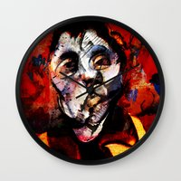 boxing Wall Clocks featuring Boxing Bacon by Genco Demirer