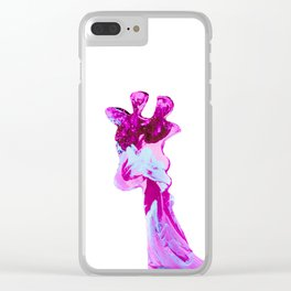 My giraffe is pink Clear iPhone Case