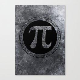 Pi Irrational Number Canvas Print