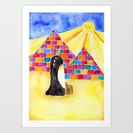 Penguin On Holiday Art Print