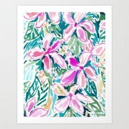 PLUMERIA PARADISE Tropical Floral Art Print