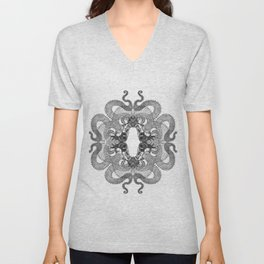 Quadruple Dragon Unisex V-Neck