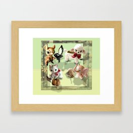 Whimsical Squad Framed Art Print