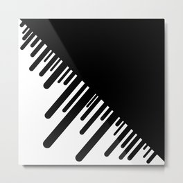 Black and White Meteor Shower Metal Print