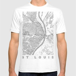 St Louis Map Line T-shirt