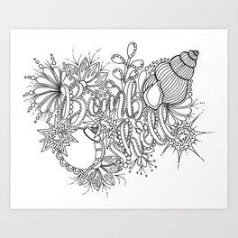 Bombshell Adult Coloring, Pin Up Design, Art Print
