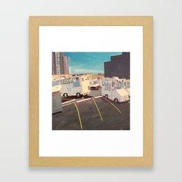 Parking Lot, Queens (Ice Cream Trucks) Framed Art Print