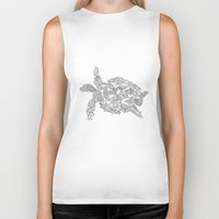 turtles Biker Tanks featuring Turtles by Evolution Posters