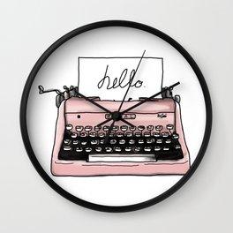 Freedom of Speech, Writer's Gift, retro typewriter Wall Clock
