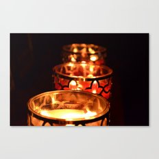 Candle Light Canvas Print