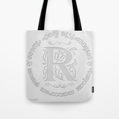 Joshua 24:15 - (Letterpress) Monogram R Tote Bag