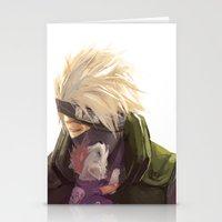 kakashi Stationery Cards featuring Ninja pup by Aleksandra Chabros aka Adelaida