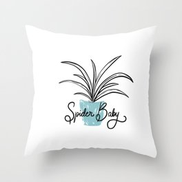 Spider Baby Throw Pillow
