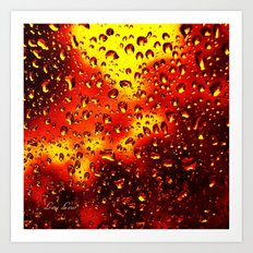 I set fire to the rain Art Print