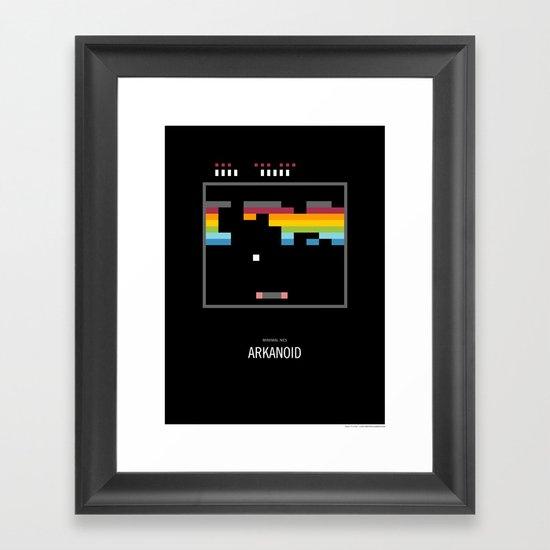 Minimal NES - Arkanoid Framed Art Print