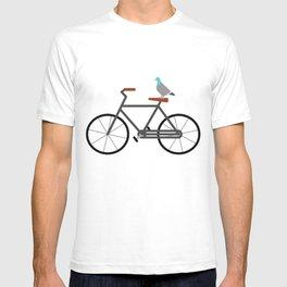 Pigeon Riding Bike T-shirt