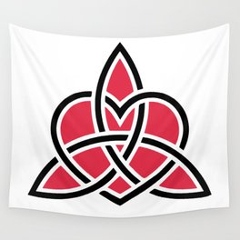 Triquetra Knot With Heart Symbol Wall Tapestry
