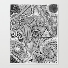 Zentangle®-Inspired Art - ZIA 25 Canvas Print