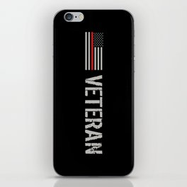 Firefighter Veteran: The Thin Red Line iPhone Skin