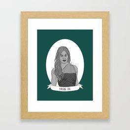 Laverne Cox Illustrated Portrait Framed Art Print